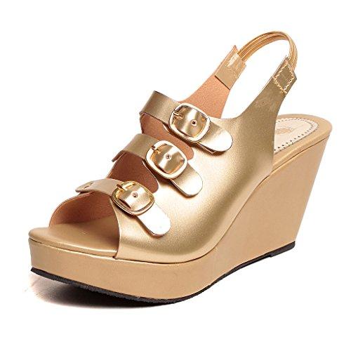 Feel-It-Comfortable-Leatherite-CasualFormalPartywear-Wedges-Footwear-for-Womens-Girls-544-GOLDEN-P