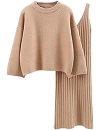 semen Damen Strick Kleid Set Oberteil Pullover Frauen Clubwear Blues und  Rock Bodycon 2 teiliges Set 9f04007dfc