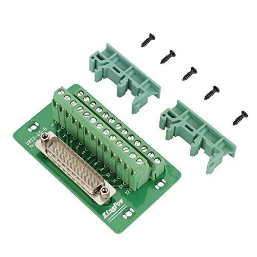 Breakout Board Module, Klemmenblock-Modul, DB25 DIN-Schienenmontage-Schnittstellenmodul Anschlussklemmen-Breakout-Board(Männlicher Kopf) -