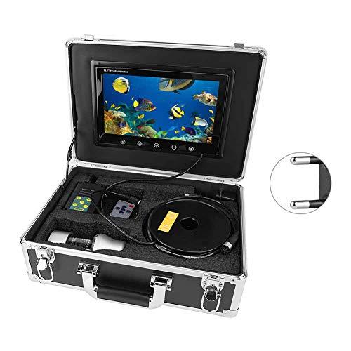 Professioneller Fischfinder, 10 Zoll HD 360 ° drehbare Unterwasservideokamera, IP68 wasserdichte Angelkamera, 38 LED 65,6 Fuß Kabel(EU)