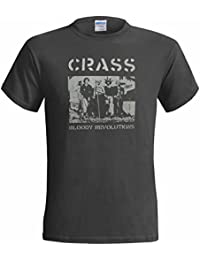 CRASS BLOODY REVOLUTIONS MENS T SHIRT PUNK ANARCHY