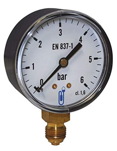 Manomètre diamètre 100mm 0 à 10 bars boitier ABS raccord vertical 1/4 Réf 1165RV14D