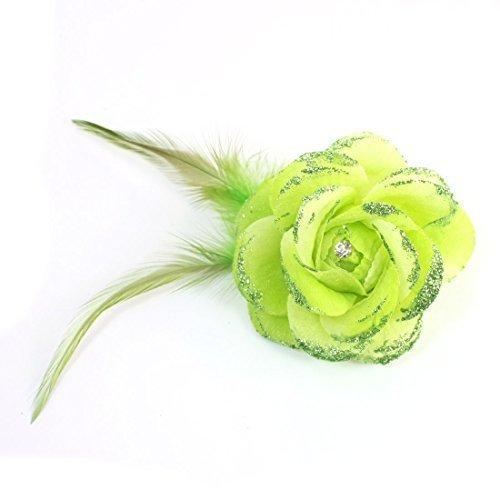 vert-clair-paillettes-de-tissu-rose-plume-finition-pince-a-cheveux-broche-femmes-vert-clair-one-size
