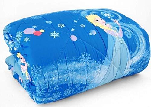 Trapunta frozen elsa caleffi piazza mezzo azzurro cm.220x265 -peso invernale -tessuto microfibra