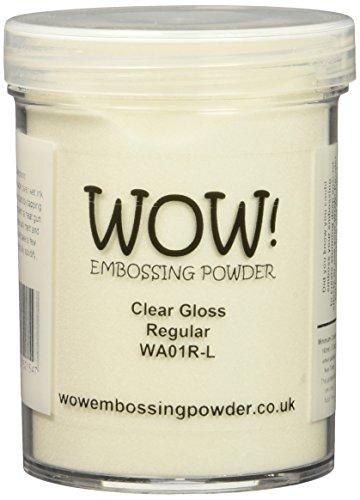 Wow Embossing Powder Tolles Produkt. Präge-Pulver, großes Glas, 160ml, klar, glänzend, normal