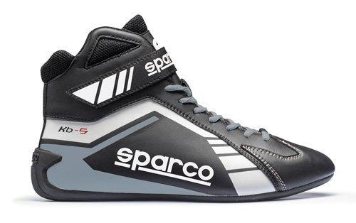 Speed-racing-schuh (Sparco Kartschuh Scorpion KB-5 schwarz/grau - Top Racing Schuh (38))