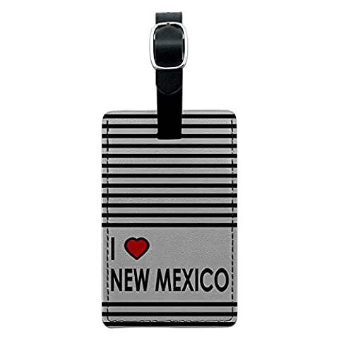 I love Herz New Mexiko Leder Gepäck ID Tag Koffer