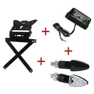 Kit Kennzeichenhalter für Motorrad universal + 1Paar Blinker + Kennzeichenbeleuchtung Lampa Gilera SMT 502004-04
