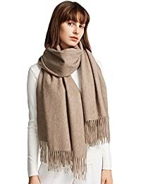 "STORY OF SHANGHAI Womens Large 70""x32"" Cashmere Wool Scarf Super Warm Winter Shawl Wraps Stole Scarf"