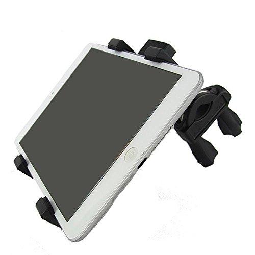 Supporto universale per biciclette per biciclette Staffa di navigazione per motociclette Staffa mini Ipad Supporto da tavolo da tavolo da 4,3-8 pollici , black
