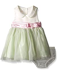52f988c6c7a Baby Girls 3M-24M Peter Pan Collar Shantung to Tulle Ballerina Dress (18  Months