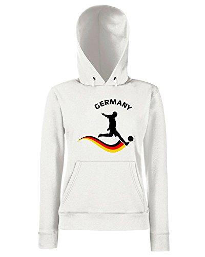 T-Shirtshock - Sweats a capuche Femme WC0060 GERMANIA GERMANY DEUTSCHLAND Blanc