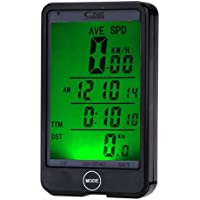 JSG Accessories® Wireless LCD waterproof Cycle Bike Bicycle Computer Odometer Speedometer with Touch and Backlight by JSG Accessories