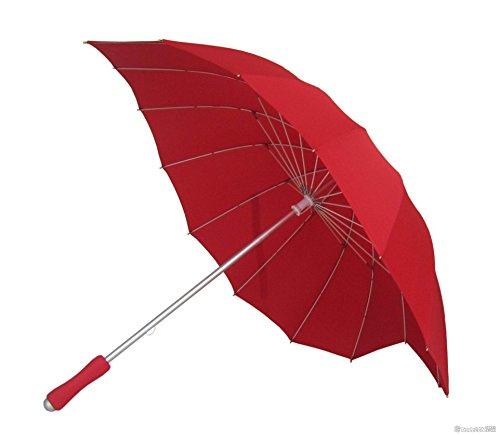 Impliva Impliva Ombrello classico, 110 cm, Rosso (Rot)