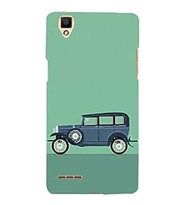 Fuson Designer Back Case Cover for Oppo F1 :: A35 (Vintage car theme)