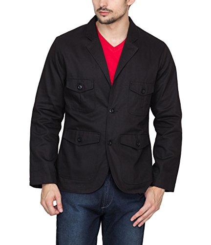 Hypernation Black Color Twill Blazers for Men