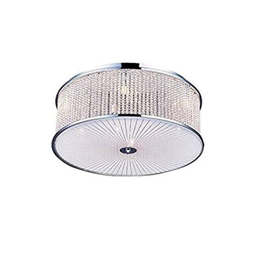 FDA3H / Moderne Luxus Deckenbeleuchtung G9 9 Flammig Perfekte Kristall Edelstahl Aluminium Deckenleuchte Runde Starlight Durchbohrt Effekt Kreative Deckenleuchten 42W Ø45CM 230V Schlafzimmer