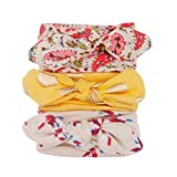 Best Accessories For Newborn Girls - Voberry@ Baby-Girl's eadband, 3Pcs Floral Bowknot Headband Elastic Review