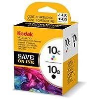 Kodak 10B/10C Combo Ink Cartridge - Black/Color - 1 Year Limited Warranty
