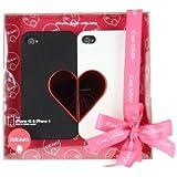 Ozaki iCoat Lover Étui rigide avec film protection pour iPhone 4 Noir/Blanc