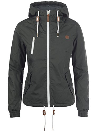 DESIRES Tilda Damen Übergangsjacke Jacke Mit Kapuze, Größe:M, Farbe:Dark Grey (2890)