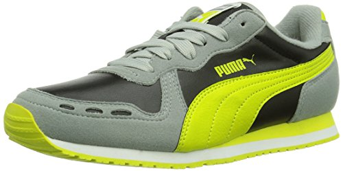 Puma Cabana Racer SL Jr Unisex-Kinder Sneakers Grau (limestone gray-black- 3e6ffcb12b