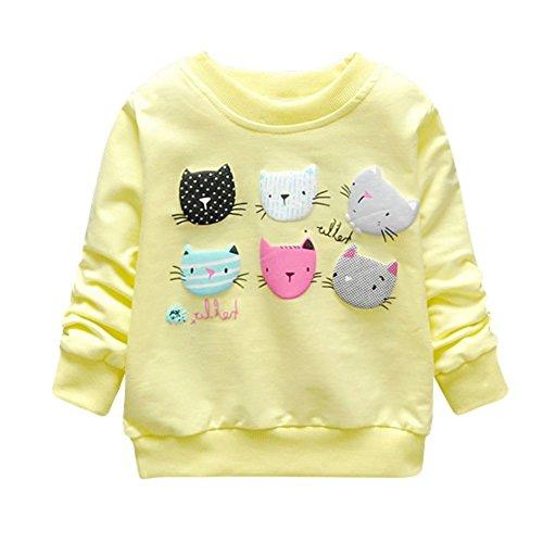 ESHOO Bébés Filles Sweatshirts Dessin Animé en Coton Pull-Over 1-4 Ans ESHOO