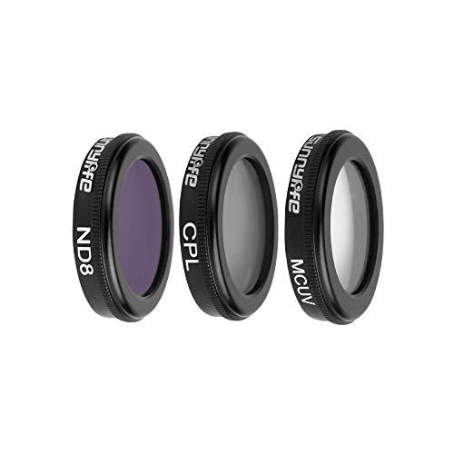 LCLrute 3 in 1 ND8 UV CPL Wasserdichte Kamera-Objektiv-Filter-Kit für DJI Mavic 2 Zoom Drone