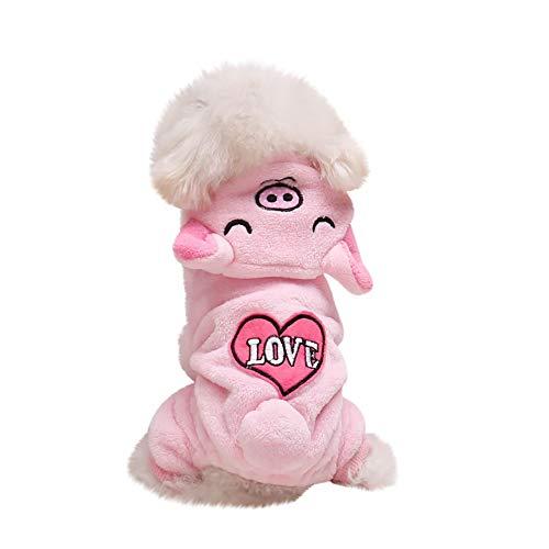 BBring Bär Schwein Koala Elefant Kostüm für Katzen Hunde, Hundekostüm Kapuzen Pullover mit Ohr Schwanz 4 Beine Haustier Kleidung Winterpullover Hundekleidung für Hunde Hündchen Kätzchen (S, (Schwein Kostüm Für Große Hunde)