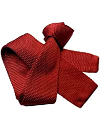 Avantgarde Cravatta in maglia tinta unita tricot tanti colori blu azzurra  rossa grigia nera colore colour 8776fcda7212