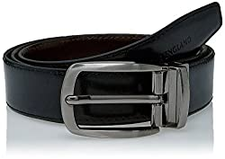 Peter England Mens Leather Belt (8907495896038_RL31791453_Large_Black and Brown)