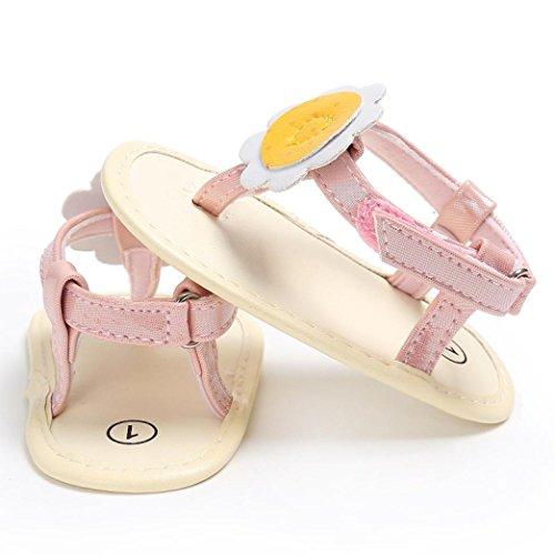 Sandalen Mädchen Flat Pink Sandals Blumen Bohemia Flip Strand Baby Flops Sommer Bzline® wpqgvgT