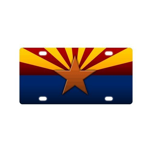 Arizona State Flag Strong AndDurable Aluminum Car License Plate 12 X 6 by Arizona Flag License Plate