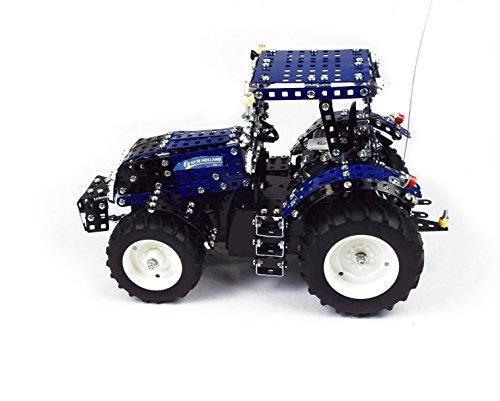 RC Traktor kaufen Traktor Bild 1: Tronico 10057 - Metallbaukasten Traktor New Holland T8 mit Fernsteuerung, Profi Serie, Maßstab 1:16, 732-teilig, blau*