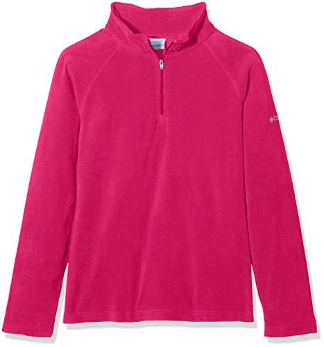 für Mädchen mit halbem Reißverschluss, Glacial Fleece Half Zip, Polyester, Rosa (Cactus Pink), Gr. L, 1556943 ()