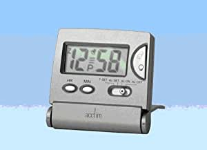 Acctim Flip LCD Alarm Clock, Silver, Mini