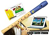 Flute Master (Lernsoftware) mit Holz-Kunststoff-Blockflöte (deutsche Griffweise)