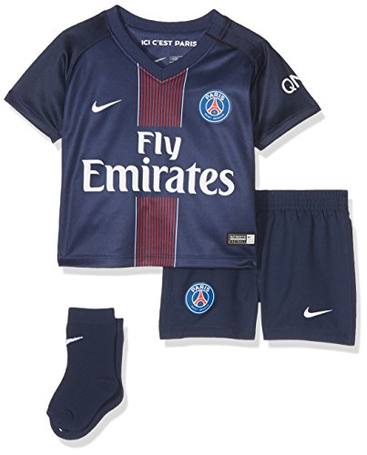 Nike 2016/2017 PSG Stadium Home Ensemble de Football Mixte bébé, Midnight Navy/Noir/Challenge Red/Blanc, FR (Taille Fabricant : 12-18 Mois)