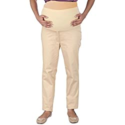 Momtobe Maternity Trouser Beige (Size : X-Large)