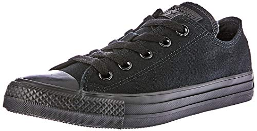 Converse Chuck Taylor All Star, Unisex - Erwachsene Sneaker, Schwarz (Black Mono), Gr.45 EU