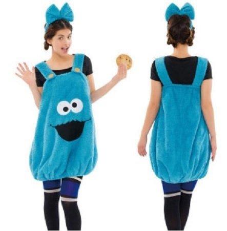 Sesame Street Fluffy Kleid Cookie Monster Jahresabschlussfeier Weihnachten -