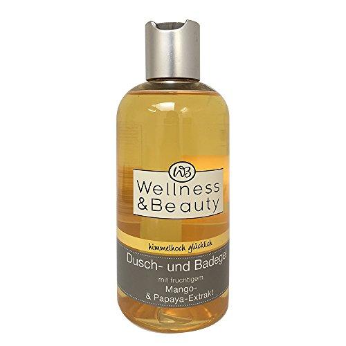 Wellness & Beauty Dusch-und Badegel mit Mango- & Papaya-Extrakt 250ml