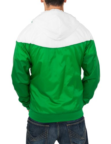 Urban Classics Herren Jacke Bekleidung Arrow Windrunner Green/White