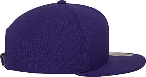 Flexfit Classic Snapback Cap, Mütze Unisex Kappe für Damen und Herren, One Size, plus extra Kindergröße purple