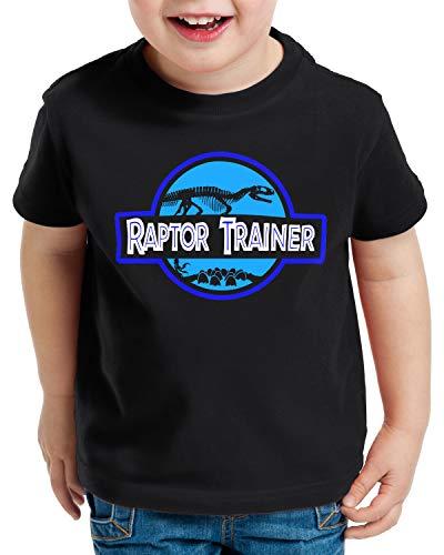 style3 Raptor Trainer T-Shirt für Kinder Dinosaurier Park, Größe:128