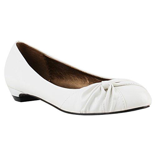 Damen Ballerinas Flats Bequeme Party Hochzeit Slipper Ballerina Slippers Camouflage Schleifen Schuhe 144224 Gold Weiss 39 | Flandell® (Schuhe Weiß Gold)