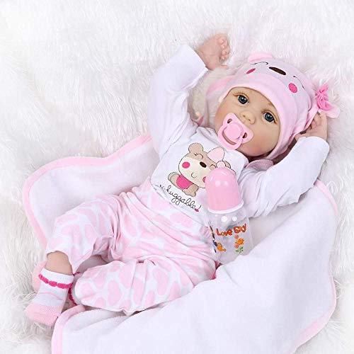 MAIHAO Realista Muñecas bebé Reborn Baby Doll Vinyl Silicona Niña Boca Magnética Real Lifelike Toddler Bebé 22 Pulgadas 55 cm