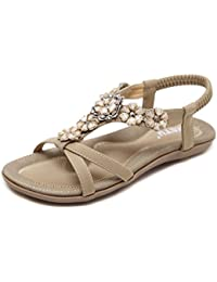 Vogstyle Damen Sommer Bohemia Sandalen Zehentrenner Clip Toe Flip Flops  Strand Schuhe fdb723fc29