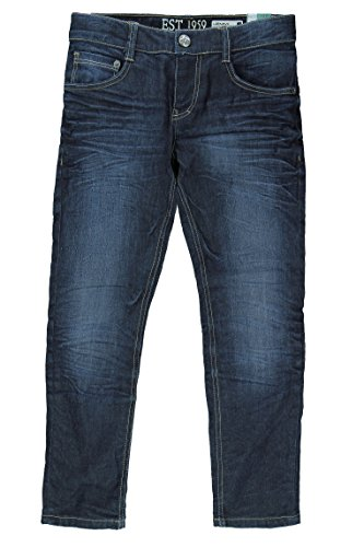 Lemmi Jungen Skinny Hose Jeans Tight fit SLIM, Gr. 134, Blau (dark blue denim|blue 0012) (Kinder-jeans Blaue)