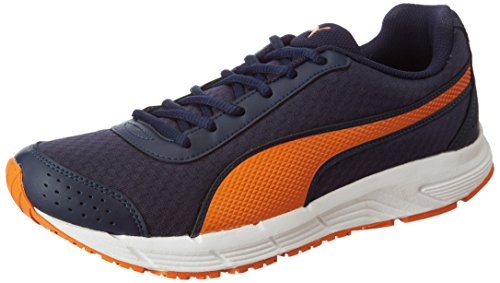 Puma Men's Rapple Peacoat-Vibrant Orange-White Running Shoes - 7 UK/India (40.5 EU)
